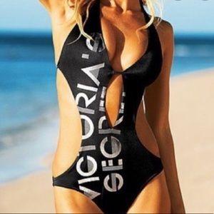 Victoria's Secret black monokini logo